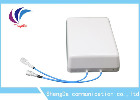 China 4G a antena alta baixo PIM 8dBi do painel do ganho DAS Wifi Dual 2×2 inclinado MIMO interno fábrica